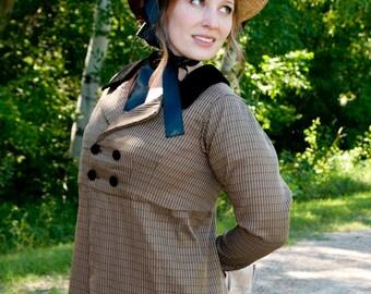 Regency Jane Austen dress Spencer Jacket Pelisse CUSTOM made in your choice of colors & fabrics