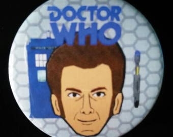 Doctor Who. Tenth Doctor. Custom 38mm Pin Badge.