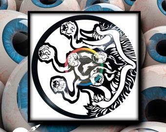 Don the Eyeball Monster ~ Custom Engraved Vinyl Record - CUSTOMIZE YOUR ORDER