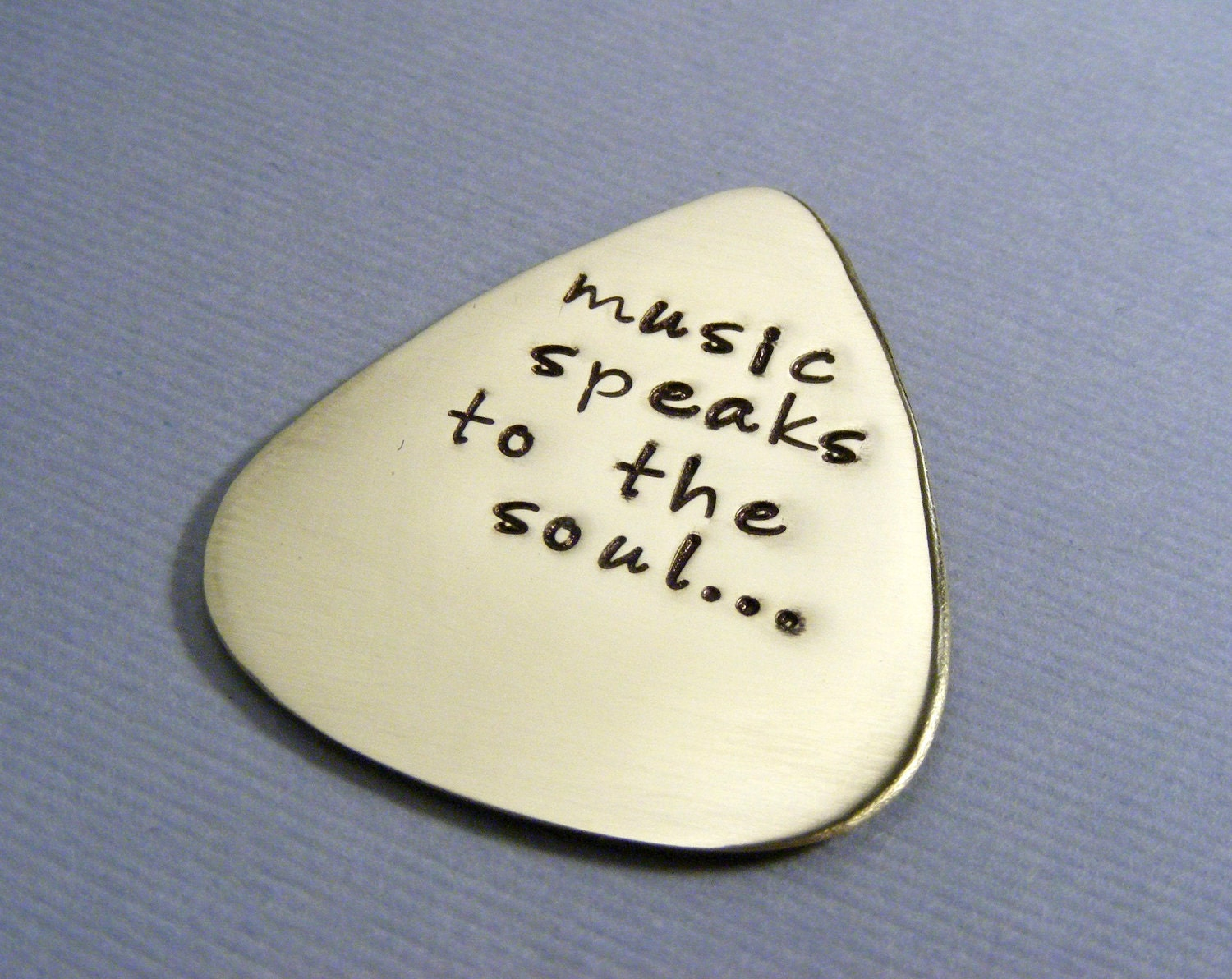 Personalized Guitar Pick - Custom Guitar Pick - Music Lovers Gift - Personalized Mens gift - Hand Stamped Pick - Musician Gift - Guitar Pick