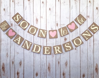 engaged banner, engagement banner, soon to be banner, bacheloreete party decor, bachelorette party banner, soon to be sign, engagement party