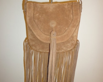 Beautiful 1970's Fringe Crossbody/Shoulder Bag