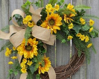 Spring / Summer Wreath, Sunflower Wreath