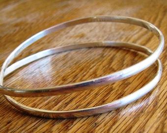 Infinity bracelet. Silver Bangle.Infinty bangle , Full twist