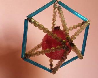 Three Czechoslovakian Christmas ornaments, mercury glass