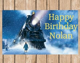 Polar Express Birthday Vinyl Banner