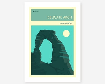 ARCHES NATIONAL PARK (Giclée Fine Art Print/Photo Print/Poster Print) 'The Delicate Arch' by Jazzberry Blue