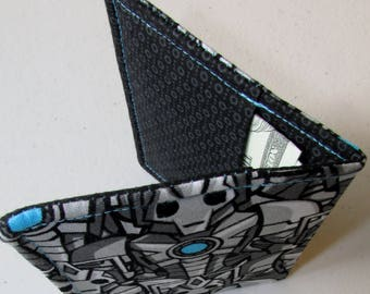 Wallet Made with Doctor Who Cyberman Fabric, Nerdy Wallet, Gift for Nerds, Cyberman Fabric, Geeky Wallet, Doctor Who Gift, Doctor Who Wallet