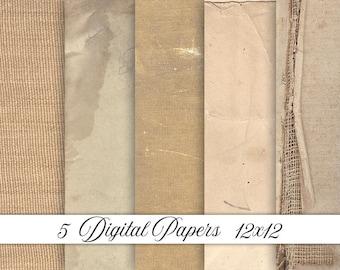 Vintage digital paper, vintage paper, old paper, antique paper, textures, backgrounds, scrapbook paper, digital paper