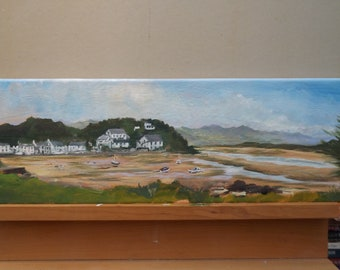 Borth-y-Gest, North Wales, original painting