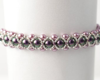 Dainty Swarovski Pearl and Silver Seed Bead Bracelet