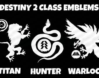 Destiny 2 Class Emblem Decal - Choose from Titan Hunter Warlock - D2 Subclass Icon Decals - Bungie