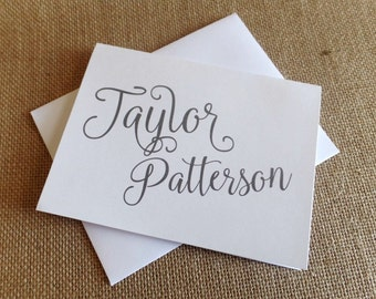 Personalized Stationery, Personalized stationary,  Monogram stationery, Monogram Note Cards, Personalized Notecards, Name Stationery