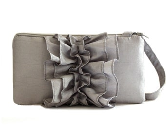 Silver Wristlet for Bridesmaid or Prom Night- Bridal Wristlet