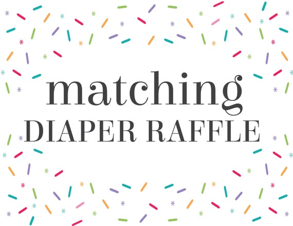 Matching Diaper Raffle