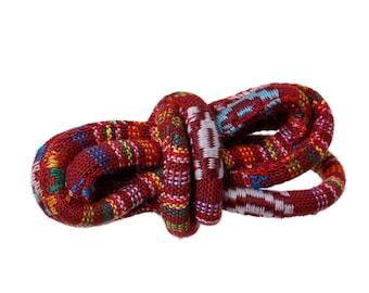 Round ethnic Red 6mm multicolor 20cm cord