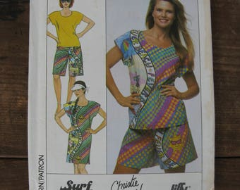 simplicity 9137 surf club Christie Brinkley collection size sm vintage 1980s ladies summer clothes uncut factory folded
