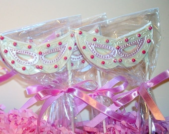 Beaded Mask Lollipops