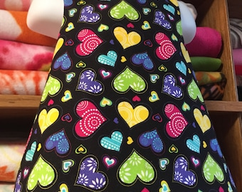 Crossback Top --- scattered hearts and fruit - Reversible Pinafore
