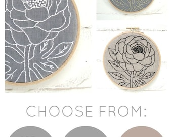 Peony Embroidery Kit {basic}