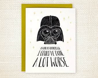 Funny Father's Day Card - Not the Worst