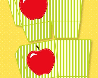 Apple Party PRINTABLE Favor Box by Love The Day