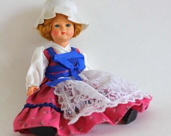Vintage Mid Century Hard Plastic Doll