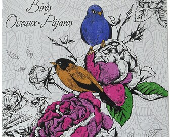 Modern Bird Design Adult Coloring Book-Dover Publications- FREE SHIPPING! - Great Gift