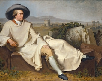 Poster, Many Sizes Available; Goethe In The Roman Campagna By Tischbein 1787