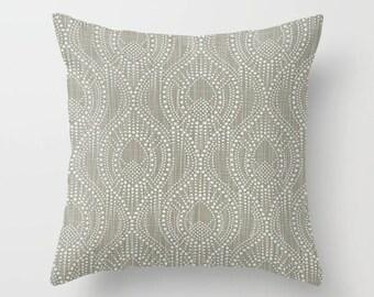 Gray Pillow Cover Scroll Pillow Throw Pillow Decorative Pillow Size Choice