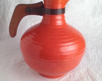 Bauer ringware orange coffee pot
