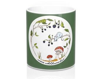 Nature Landscape drawing, Coffee Mug, Tea cup, Quote mug