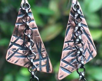 Hammered Dangle Earrings