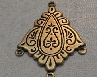 LuxeOrnaments Oxidized Brass Filigree Pendant (Qty 1) 32x23mm S-8970-B