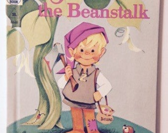 Jack And The Beanstalk Vintage Tip Top Elf Hardcover Book 1961