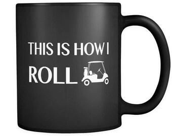 Golfer Gift, Golfer Mug, Funny Golfing Gift, Unique Golfing Mug, Golf Black Mug, Golf Gifts, Golfer Birthday Gift, Gift for Golfer #a086
