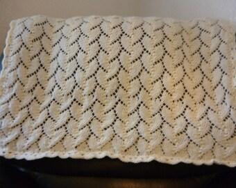 Cream Baby Blanket