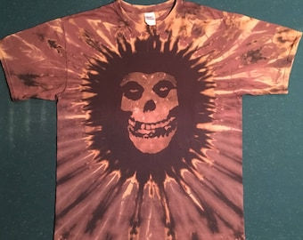 Misfits inspired reverse dye T-shirt shirt hand made customizable FREE SHIPPING
