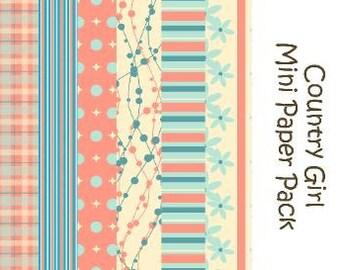 Country Girl Digital Mini Paper Pack