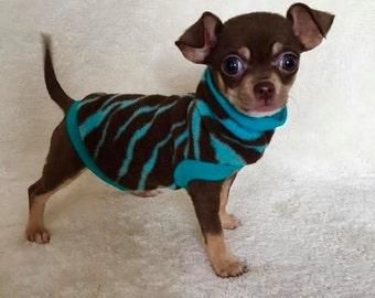 Chihuahua Clothing - Fleece SlipOn/SlipOff - great for Yorkies,  Maltese and all tiny dogs.