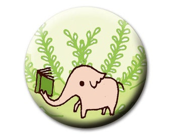 Bookish / literary gifts - elephant POCKET MIRROR - librarian teacher gift for her, book themed gift, womens gift for women, party favors