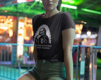 Count Your Blessings Not Your Calories Womens Day of The Dead T Shirt
