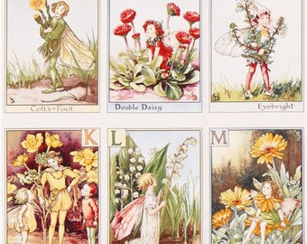 189897 Alphabet Panel fairy ABC fairy tale fabric Michael Miller