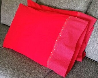Red Polka Dot Pillowcases,Pillowcases Set,Pillowcases New,Pillowcases Couple,Heart Pillow Cover