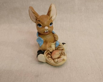 Pendelfin Rabbit Nipper Figurine, hand painted stonecraft.