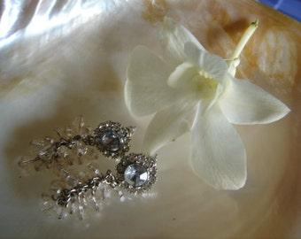 Vintage Chandelier Crystal Dangle Earrings