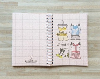 Ootd, Fashion notebook / Fashion Journal / Fashion Diary / Outfit book / Outfit Diary