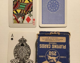 Casino, 250. Plastic coated, playing cards.