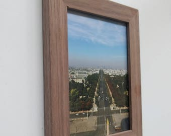 Hand made walnut picture frame