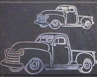 50's  Pick Up Truck in Metal